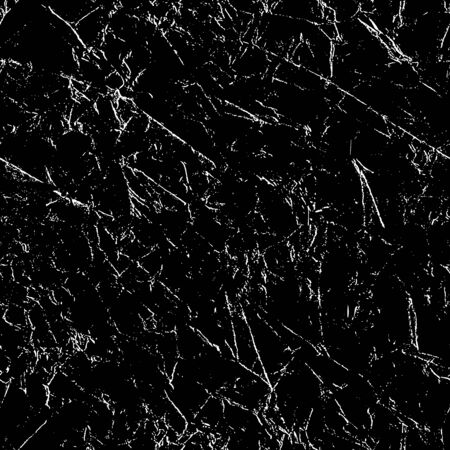 Grunge Distressed Seamless Repeating Pattern Black and White Vector Illustration