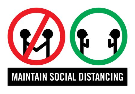 Maintain Social Distancing Sign Isolated Vector Illustration