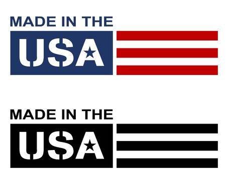 Made in the USA Label Logo Isolated Vector Illustration