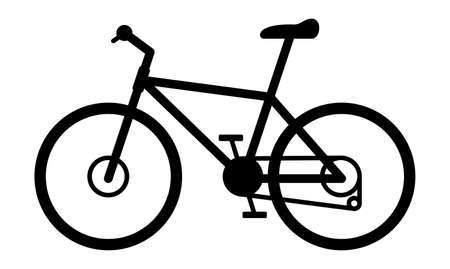 Trail Mountain Road Bike Isolated Vector Illustration