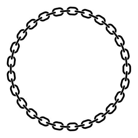 Chain Links in a Prefect Circle Isolated Vector Illustration Ilustración de vector