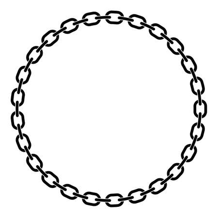 Chain Links in a Prefect Circle Isolated Vector Illustration Vettoriali