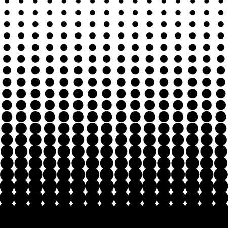 Black Halftone Dots Vector Illustration  イラスト・ベクター素材