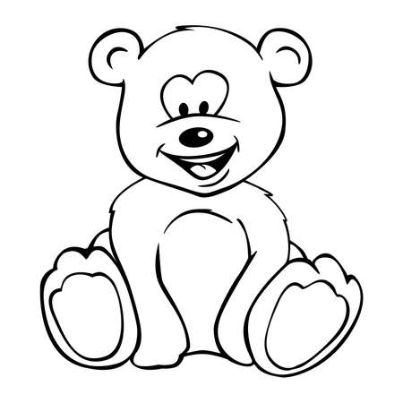 Cute Teddy Bear Cartoon Isolated Vector Illustration  イラスト・ベクター素材