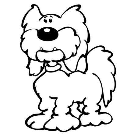 Cute Cartoon Dog Cartoon Isolated Vector Illustration  イラスト・ベクター素材