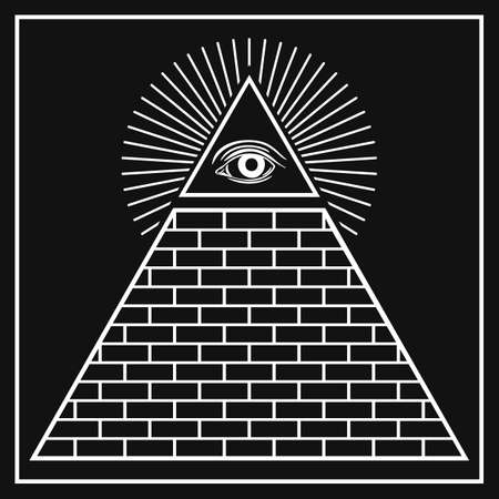 The Eye of Providence Pyramid Vector Illustration