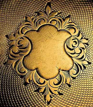 antiquities: Decor back of old clock. Background for...