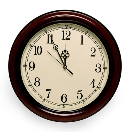 12 oclock: at five minutes to twelve Stock Photo