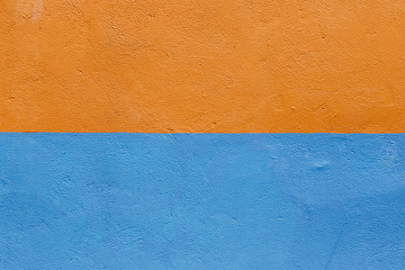 Orange and blue wall texture
