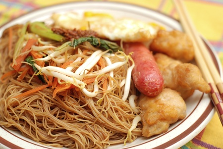 Fried rice vermicelli Stock Photo