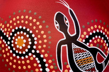aboriginal: detalle de un vaso abor�genes. Fot�grafo es principal titular del derecho de autor