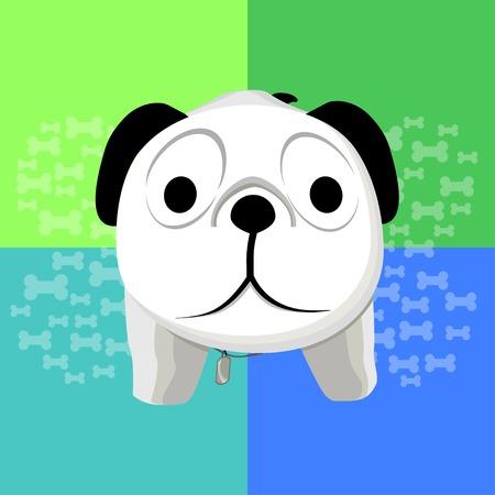 questioning: Illustration der �berraschten Hund mit hellen abstrakte Hintergrund