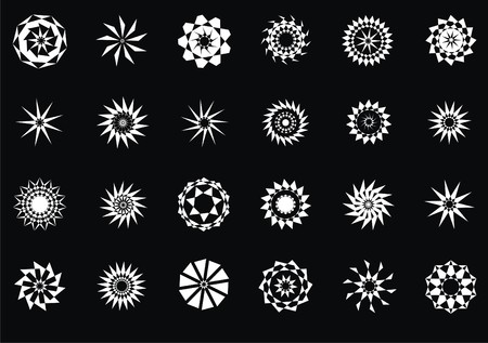 design elements, set abstract stars Vector