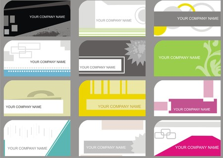 set business cards Stock Vector - 4929893