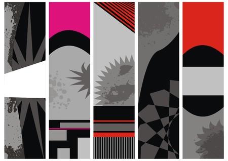 wawe: set vector banners