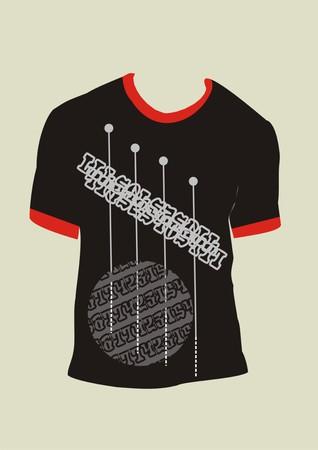 display size: t-shirt for men Illustration