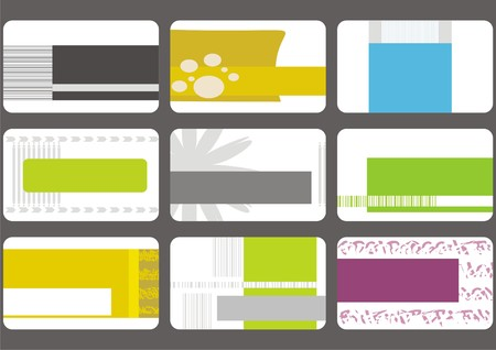 business identity: set business cards