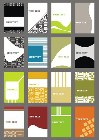business cards background: set business cards