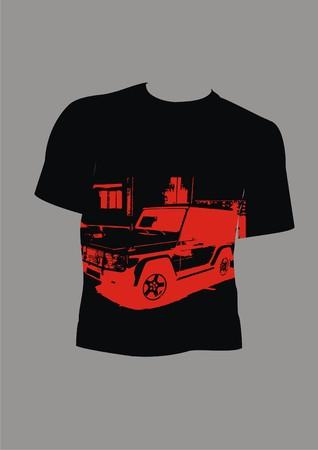 for men: design template t-shirt for men Illustration