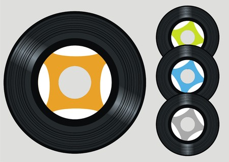 discjockey: vector vinyl Illustration