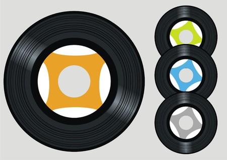 vinyl disk player: vector vinyl Illustration