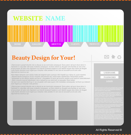 web site design template Stock Vector - 5590479
