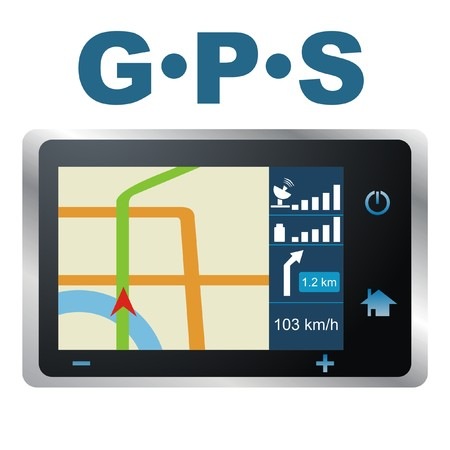 electronic guide: GPS vector Illustration