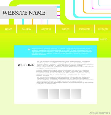 website design template Stock Vector - 5667773