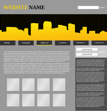website design template Stock Vector - 5667774