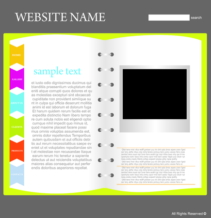 website design template Stock Vector - 5667772