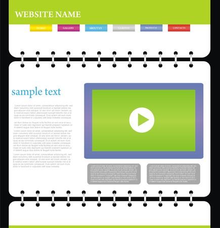 website design template Stock Vector - 5716053