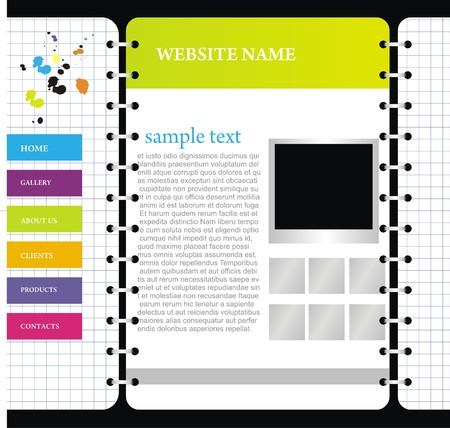 net bar: website design template