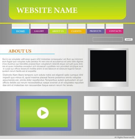 website design template Stock Vector - 5716049