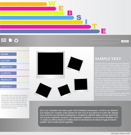 website design template Stock Vector - 5737247