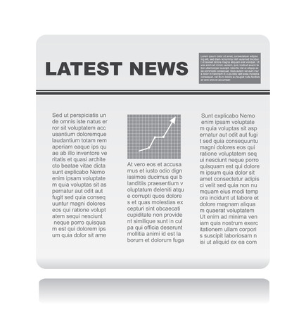 broadsheet: newspaper vector Illustration