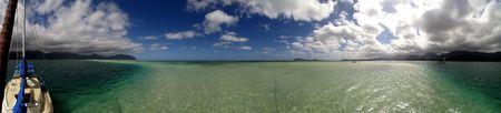 sandbank: Kaneohe Bay at the Sandbank Stock Photo