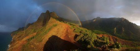 na: Na Pali Coast Rainbow