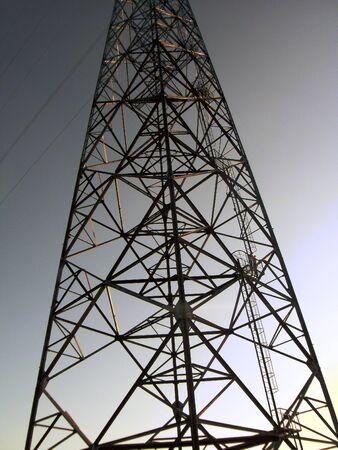 electrical tower in ukraine at old soviet area Reklamní fotografie