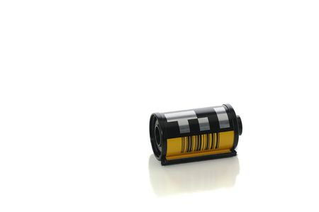 Roll of film isolated on white with clipping path