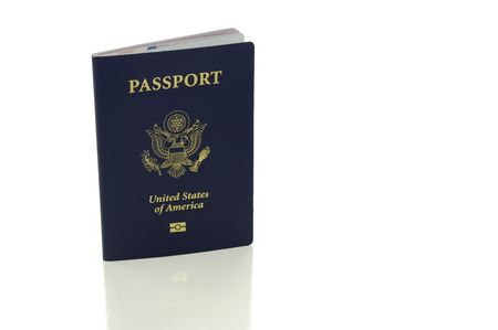 US Passport isolated on white with clipping path Stock Photo - 5779729