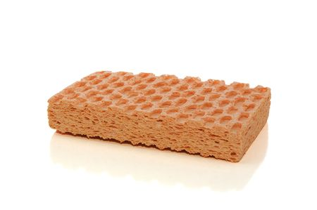 Sponge isolated on white with clipping path photo