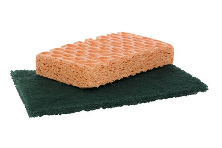 Sponges isolated on white