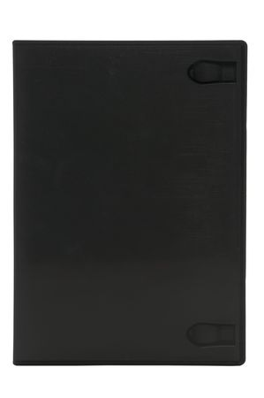 Blank DVD case isolated on white with clipping paht