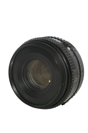Old lens isolated on white with clipping path