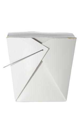 Neem uit de container geïsoleerd op wit met een uitknippad