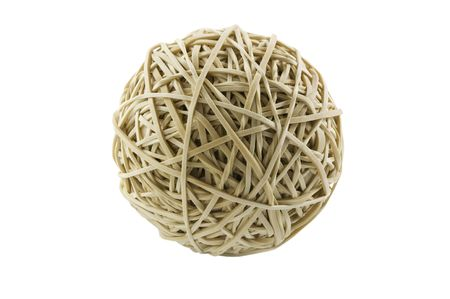Rubber band ball isolated on white with clipping path Stok Fotoğraf