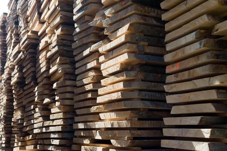 boles: stored boles in the sawmill