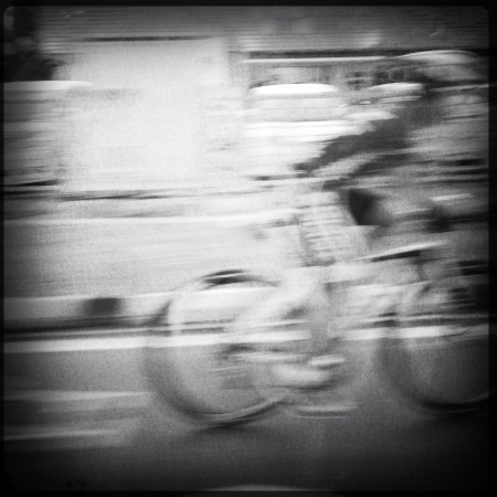 warp speed: Cyclist on warp speed