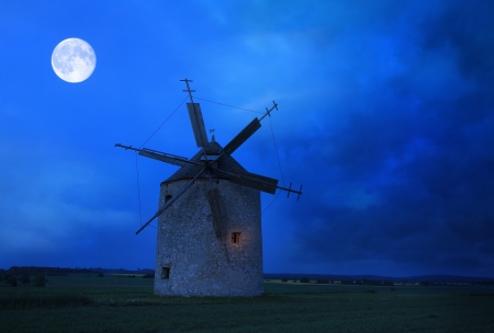 Old windmill photo