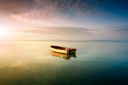 Boat on the beach from Hungary,Balaton lake